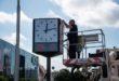 Mesto inštalovalo vcentre Nitry nové hodiny